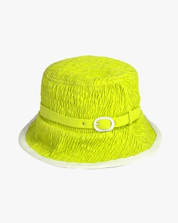 Coral Hat in Green