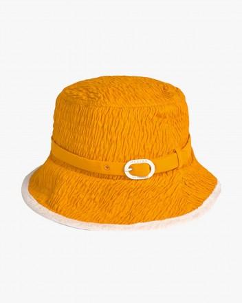 Coral Hat in Orange