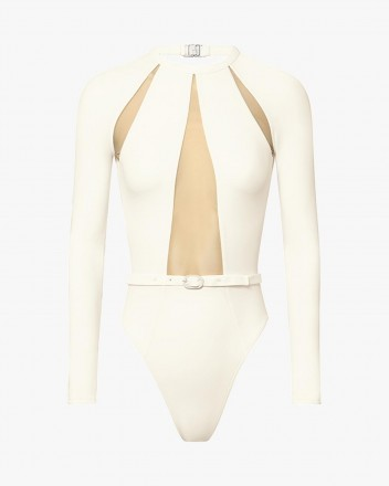 Night Diver Swimsuit in white