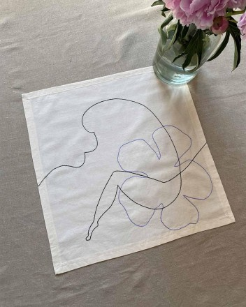 Sand Napkin in Lilac and...