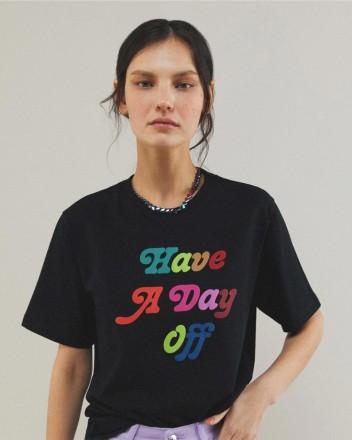 Day Off Black Tshirt