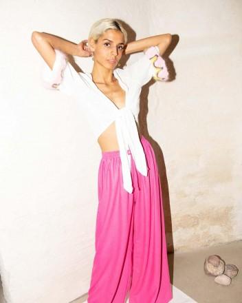 Vero Pants Hibiscus Pink