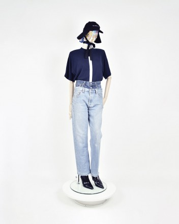 jeans double waist in Blue