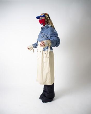 YSL trench X denim jacket...