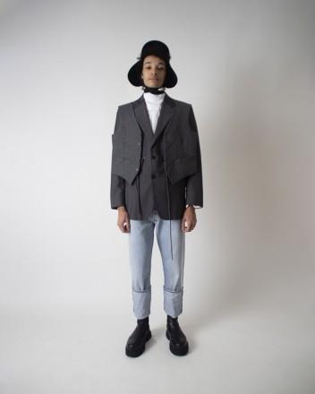 blazer gilet in Grey