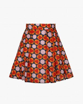 Zinia Skirt in Geometria print