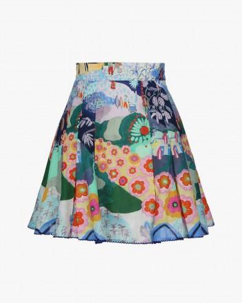 Zinia Skirt in Santa print