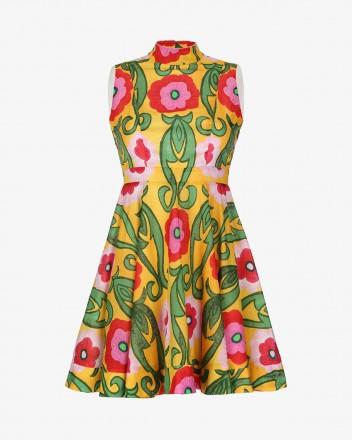 Hortencia Dress in Gladiola...