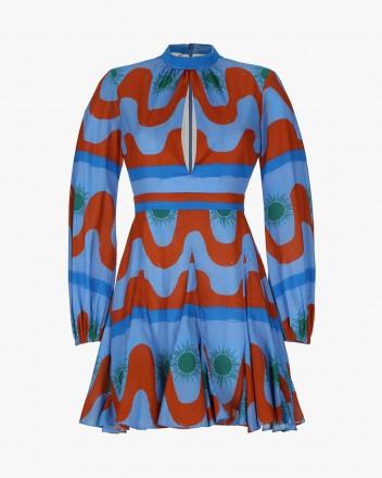 Leonor Dress in Agua print