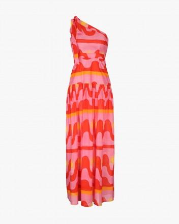 Palma Dress in Fuego print
