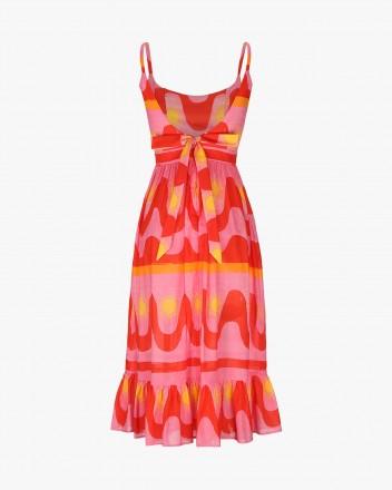Tamarindo Dress in Fuego print
