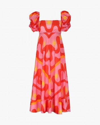 Calla Dress in Fuego print