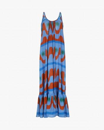 Titi Dress in Agua print