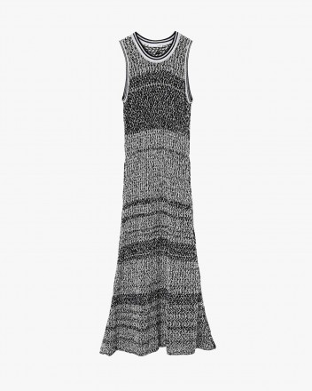 See-through midi knit-dress