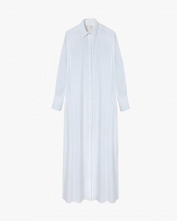 Side slips maxi shirtdress