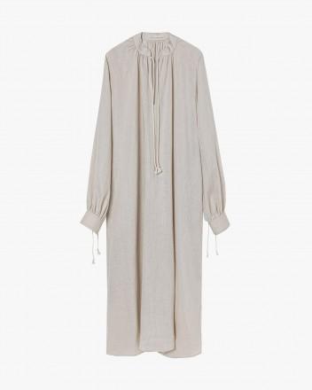 Semi-sheer linen dress