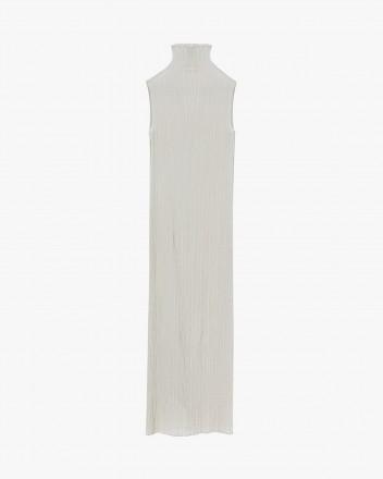 Silk-blend see-through dress
