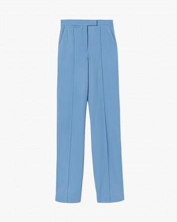 Creased straight-leg trousers
