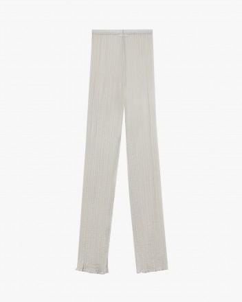 Silk-blend See-through pants