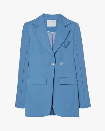 Double-breasted fitted blazer