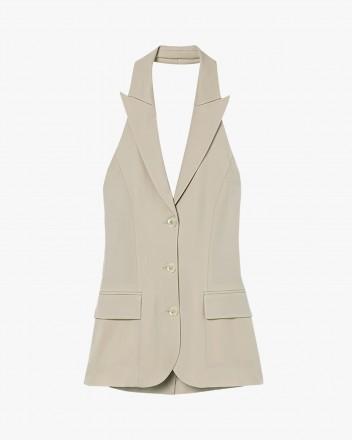 Halter single-breasted vest