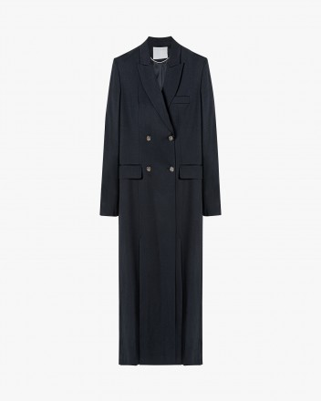 Maxi-long double-breasted coat