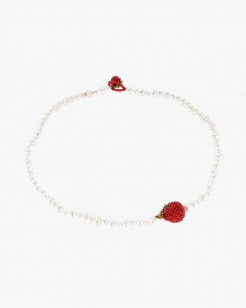 Apple Pearl Necklace