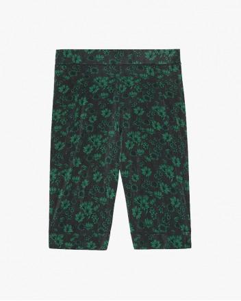 Rayon Shorts In Dark Green