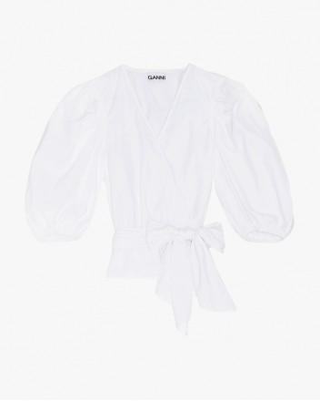 Cotton Poplin Shirt In White