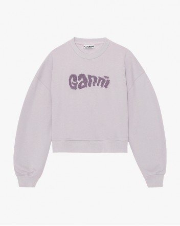 Logo Print Sweatshirt In Lilac