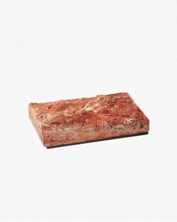 Red Travertine Soap Dish