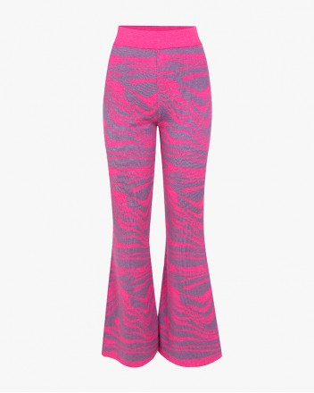 Wave Knitted Pants Pink in...