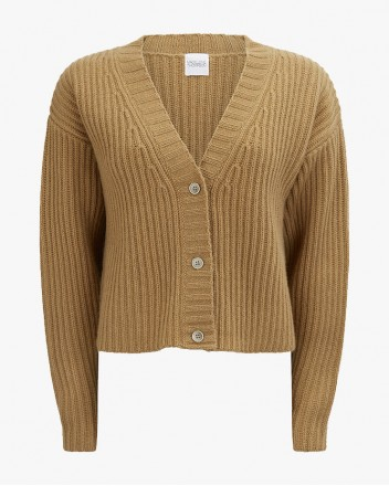 Champery Cardigan in Camel