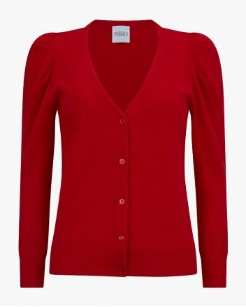 Nendaz Cardigan in Red