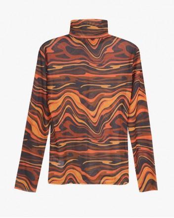 Wave Second Skin Top in Orange