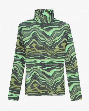 Wave Second Skin Top in Green