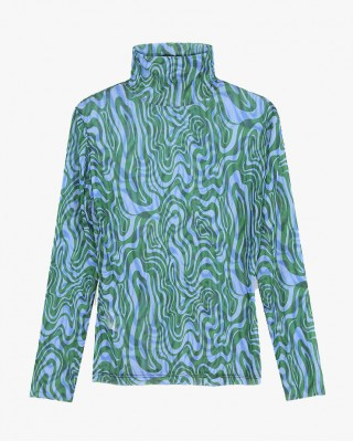 Wave Second Skin Top in Blue