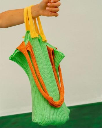 Ribbed-knit Bag