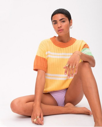 A-rayas Knitted T-shirt