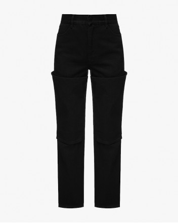 Wader Jeans With Knee Cut