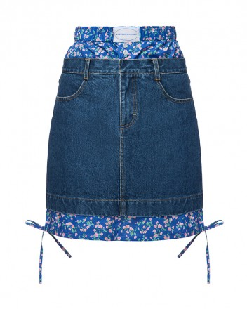 Boxer Mini Skirt With...