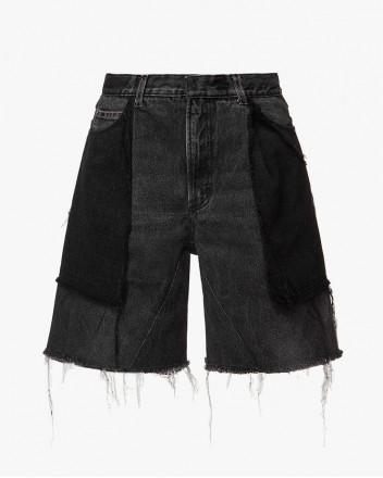 Upcycled Double Denim Shorts