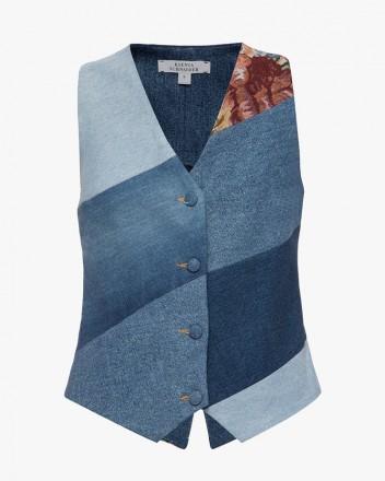 Reworked Denim Vest With...