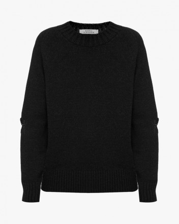 Sweater With Elbow Cuts