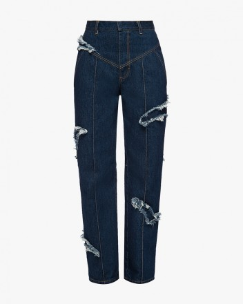 Carrot Jeans With Denim Gulls
