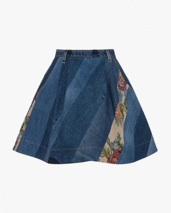 Reworked Denim Mini Skirt...