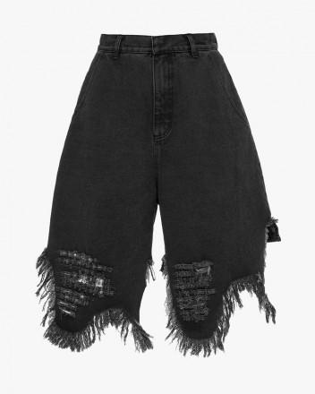 Distressed Denim Shorts...