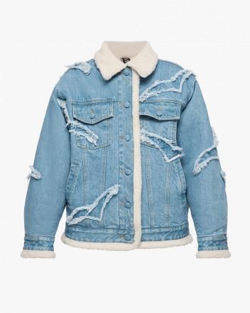 Denim Jacket with Cotton...