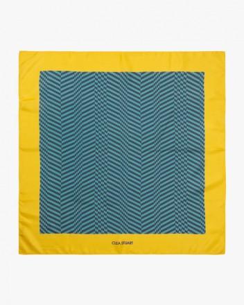 Blue Maze Scarf