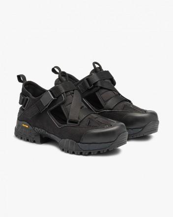 Hiking Sandal in Black Suede